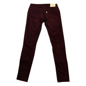 Levi's 710 Super Skinny Burgundy Jeans 27
